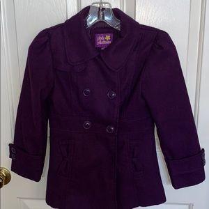 Girls purple pea coat